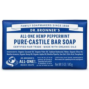 Dr.bronner All-one Hemp Peppermint Pure Castile Soap Bar 140g