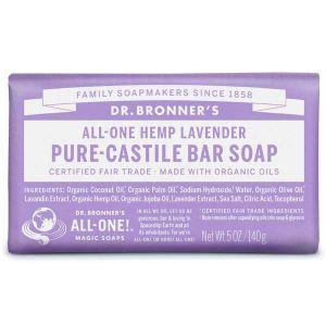 Dr Bronner Castille Soap Bar Lavender 140g