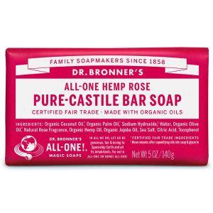 Dr Bronner Castille Soap Bar Rose 140g
