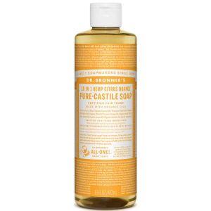 Dr Bronner Citrus Orange Pure Castille Liquid Soap 472ml