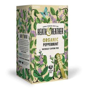 Heath And Heather Organic Peppermint Tea 20 Tea Bags