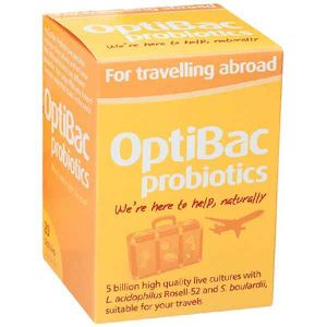 Optibac Probiotics For Travelling Abroad 20 Capsules