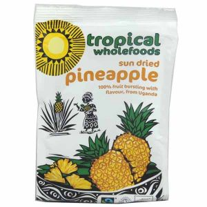 Tropical Wholefoods Organic Fairtrade Sun Dried Pineapple 100g