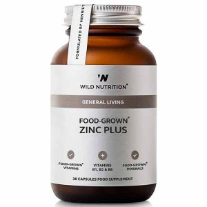 Wild Nutrition General Living Food-Grown Zinc Plus 30 Capsules
