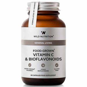Wild Nutrition General Living Food-Grown Vitamin C & Bioflavonoids 60 Capsules