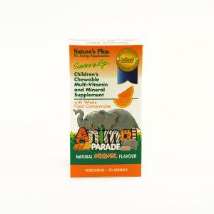 Natures Plus Animal Parade Chewable Orange Vitamin C 90 tablets