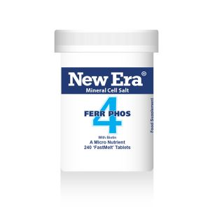 New Era Mineral Cell Salts No.4 Ferr Phos (iron Phosphate) 240 'fastmelt' Tablets