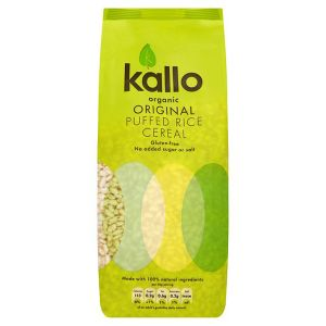 Kallo Organic Puffed Rice Cereal 225g