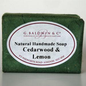 Baldwins Luxury Handmade Cedarwood & Lemon Soap 100g