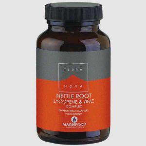 Terranova Nettle Root Lycopene & Zinc Complex 50 Vegetarian Capsules