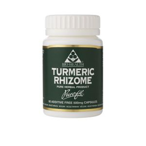 Bio-health Turmeric Rhizome 500mg 60 Vegetarian Capsules