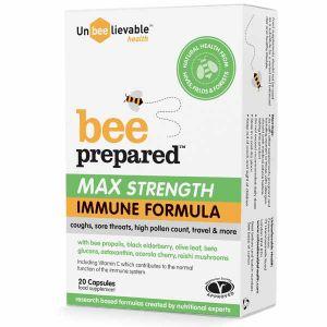 Unbeelievable Bee Prepared Max Strength Immune Support 20 Capsules