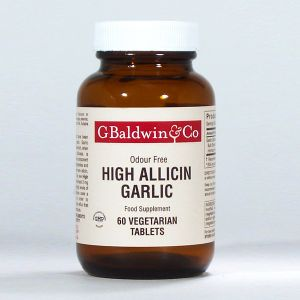 Baldwins High Allicin Garlic 500mg (odour Free) 60 Tablets