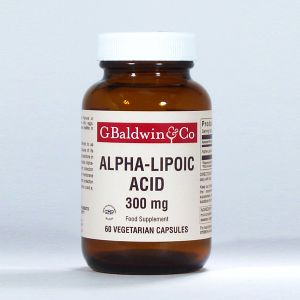 Baldwins Alpha-lipoic Acid 300mg 60 Vegecaps