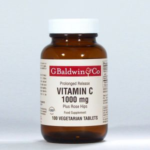 Baldwins Vitamin C 1000mg Plus Rosehips 100 Vegetarian Tablets