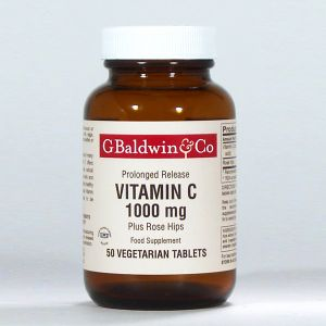 Baldwins Vitamin C 1000mg Plus Rosehips 50 Vegetarian Tablets
