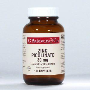 Baldwins Zinc Picolinate 30mg 100 Capsules