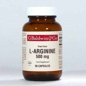 Baldwins L-arginine 500mg 90 Capsules