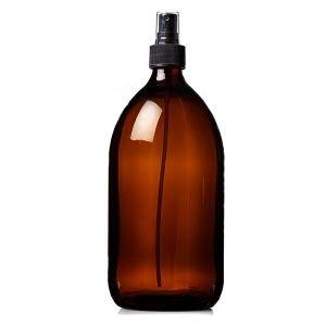Plastic Amber (PET) Bottles 1000ml With Spray Atomiser
