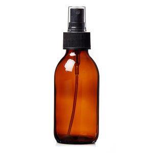 Plastic Amber (PET) Bottles 100ml With Spray Atomiser