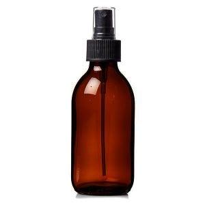 Plastic Amber (PET) Bottles 250ml With Spray Atomiser