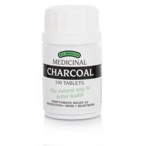 Braggs Medicinal (activated) Charcoal 100 Tablets