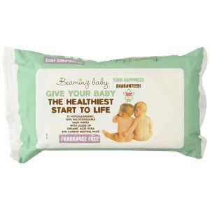 Beaming baby - Hypoallergenic baby wipes with organic aloe vera 72 wipes