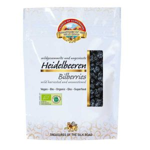 Pearls of Samarkand wild harvested and unsweetened Organic Bilberries 100g