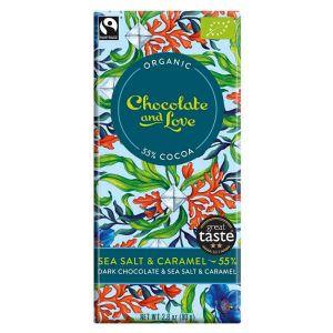 Chocolate And Love Dark Chocolate Caramel and Sea Salt 80g