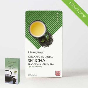 Clearspring Organic Japanese Sencha Traditional Green Tea 20 Tea Sachets