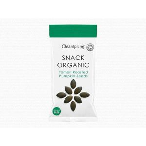 ClearSpring - Organic Snack Tamari Roasted Pumpkin Seeds 30g