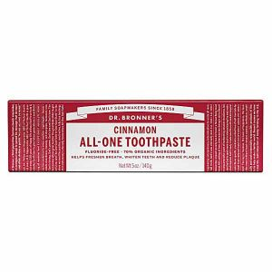 Dr. Bronners Cinnamon All-One Toothpaste Fluoride - Free 140g