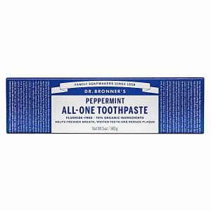 Dr.bronner's Peppermint All-One Toothpaste Fluoride - Free 140g