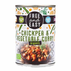 Free and Easy - Chickpea & Vegetable Curry Soup (Organic) 400g