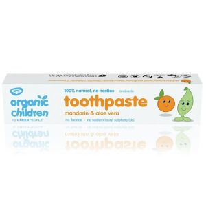 Green People Organic Children Mandarin & Aloe Vera 100% Natural Fluoride Free Toothpaste 50ml