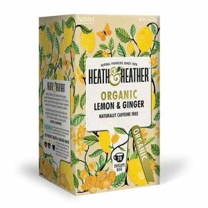Heath And Heather Organic Lemon & Ginger Tea 20 Tea Bags