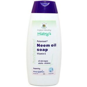 House of Mistry Potenised Neem Oil Soap with Vitamin E 200ml