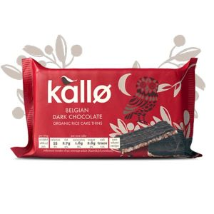Kallo Belgian Dark Chocolate Rice Cake Thins 90g