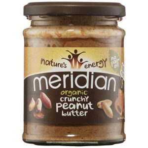 Meridian Organic Crunchy Peanut Butter no palm oil 100% nuts 280g