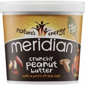 Meridian Organic Crunchy Peanut Butter with a pinch of sea salt no palm oil 280g