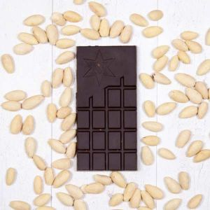 Montezumas Absolute Black 100% Cocoa Solids with Almonds 100g