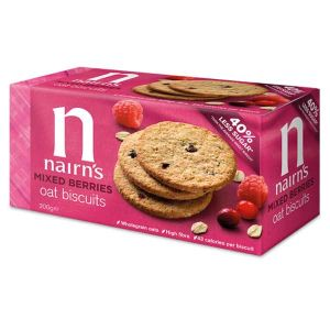 Nairn's Organic Mixed Berry Oat Biscuits 200g