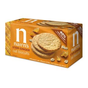 Nairn's Organic Stem Ginger Oat Biscuits 200g