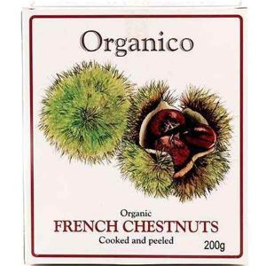 Organico - Organic French Chestnuts (Cooked and peeled) 200g
