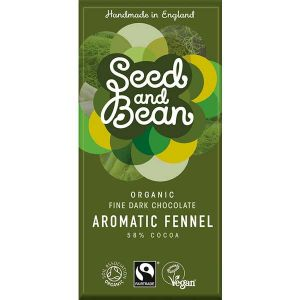 Seed & Bean Fine Dark Organic Chocolate with Aromatic Fennel 85g