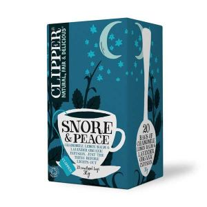 Clipper Organic Snore & Peace, Chamomile, Lemon Balm and Lavender Infusion 20 Teabags