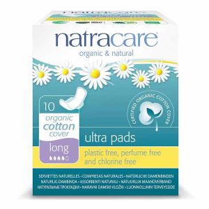 Natracare Ultra Pads Long X 10 with Wings