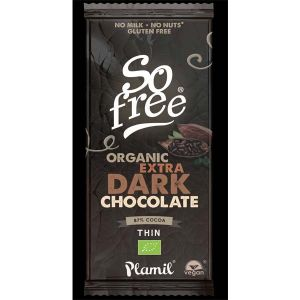 Plamil Foods - So Free Organic Extra Dark Chocolate Thin 80g