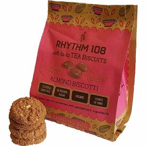 Rhythm 108 Almond Biscotti Teas Biscuits 160g