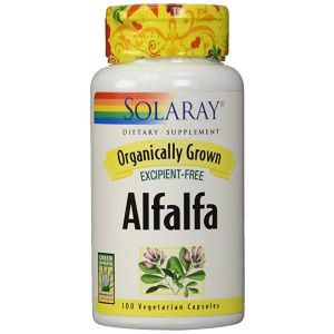 Solaray Organic Alfalfa 430mg 100 Vegecaps